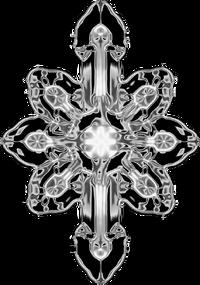Early subgenius cross chrome