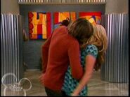 Trevor kissing Maddie