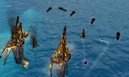 Frigates destroy enemy s naval forces