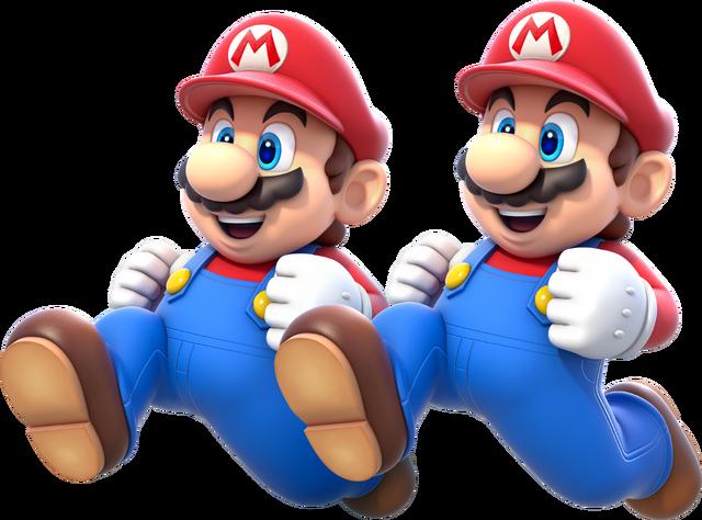 File:Double Mario Artwork - Super Mario 3D World.png