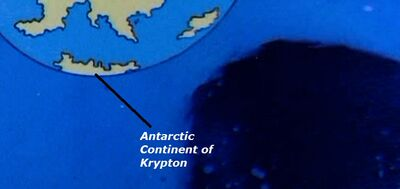 Antarctic Continent of Krypton