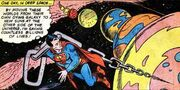 Superman Drags Planets