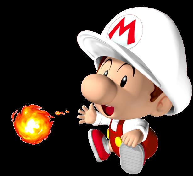 Baby Mario Fuoco Super Mario Fanon Wiki Fandom Powered