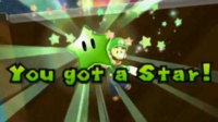 Luigi getting a Green Star