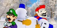 Luigi Wants to Build a Snowman.