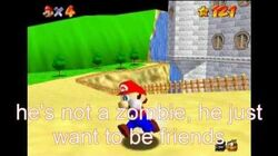 Super mario 64 bloopers castle jumping = time tavelling = zombies