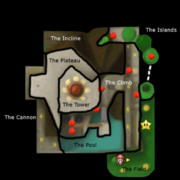 SM64 Whomp's Fortress Red Coins Map