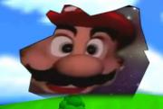 Mario Head glass