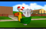 Daisy into a real daisy, Shy Guy into a toast and Toad into a kettle