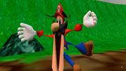 Flattened Mario