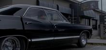 The Impala arrives outside The Lazy Shag