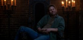 Lucifer on Crowley's throne, thinking he has won 1