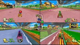 Mario Kart Double Dash!!- Baby Park 4 player Netplay race 60fps