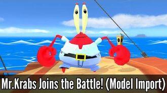 Mr Krabs Joins the Battle.Krabs Joins the Battle! (Model Import) - Super Smash Bros Wii U Mod
