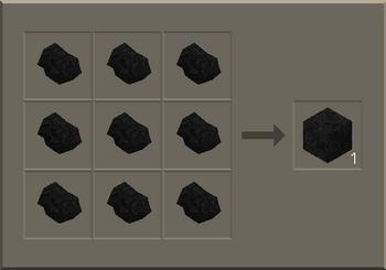 Solid Coal Block craft