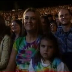 Laura and her daughter at the Reunion of All-Stars.