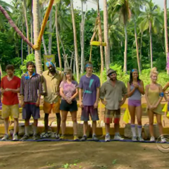 The contestants at the Reward Challenge
