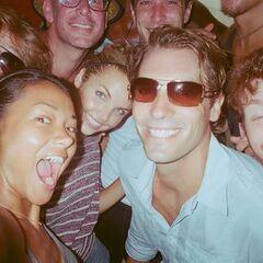 Brenda and her fellow castaways having fun at Ponderosa.