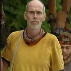 Dan walking to Tribal Council.