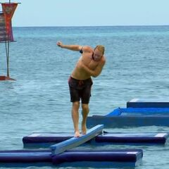 Tyler competing in <i>O-Black Water</i>.