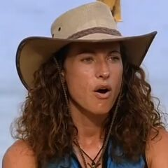 Jerri's face to learning that the last place tribe would be <a href=