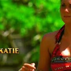 Katie's first motion shot in the opening of <i>Survivor: Philippines</i>.