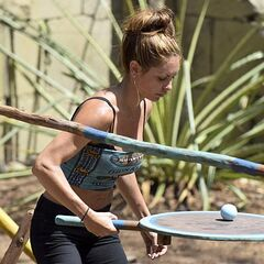 Julie competes in the second Hero Duel.