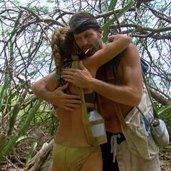 Mike hugging Carolyn.