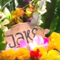 Jake's wreath in the <a href=