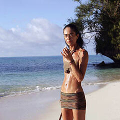 Janu alone on Exile Island.