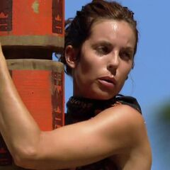 Danielle at the first individual Immunity Challenge.
