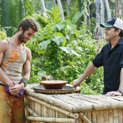 Eddie buying a bowl of peanut butter that can be shared by the whole tribe.