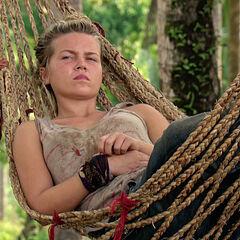 Julia on a hammock.