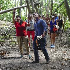 Mana exploring their camp.