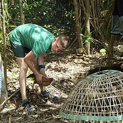Spencer at Ta Keo's camp.