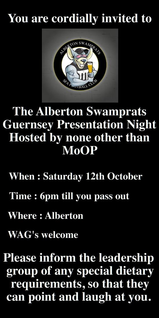 Guernsey Pres Invite