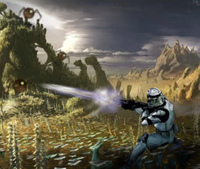 Clone and spider droid