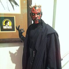 Darth Maul is ready to fight.
