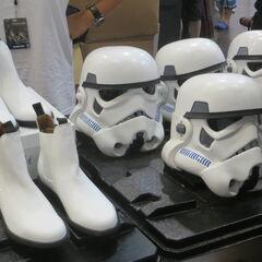 Stormtrooper merchandise.