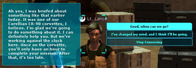 Lt. lance dialog