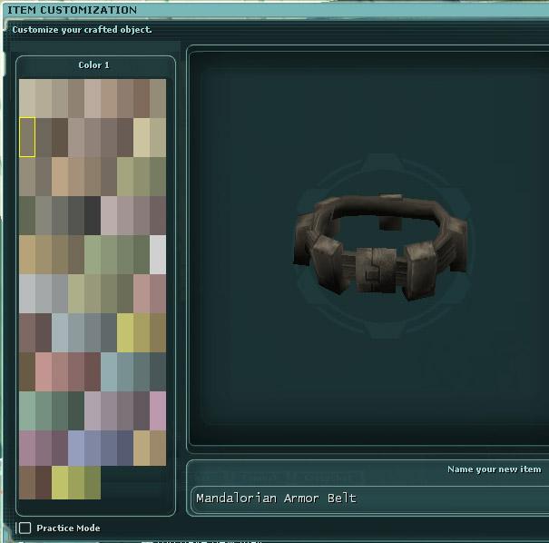 Mandalorian Palette Belt