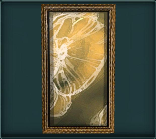 Painting of Golden Petals 3