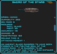 Sword of the Stars (Weapon)