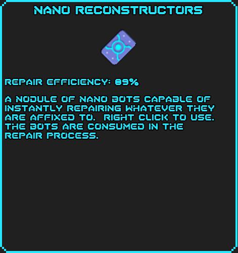 Nano Reconstructors info