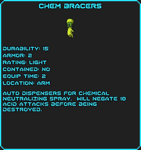 Chem Bracers Data