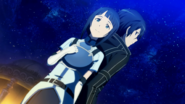Sachi and Kirito in Hollow Area