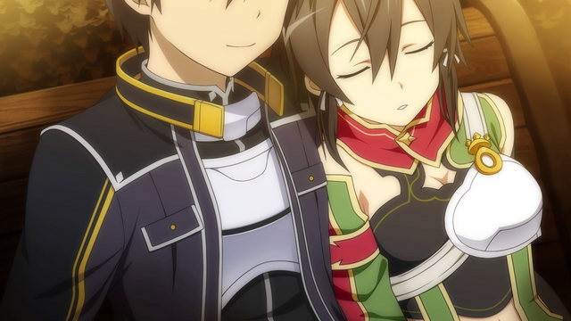 File:Sinon takes a nap on Kirito's Shoulder .png