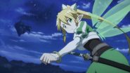 Leafa looking back