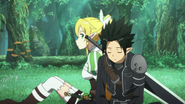 Kirito and Leafa rotate out