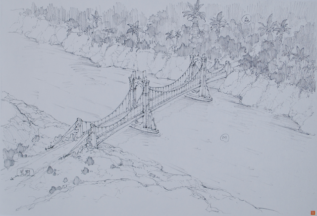 File:Design Works II artbook locations Battle field Bridge.png